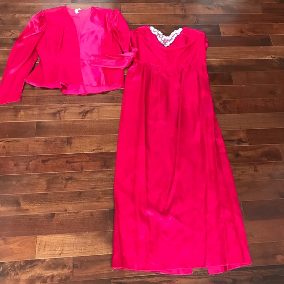 fb6f0fef47c jcpenney Dresses   Skirts - FABULOUS 80 s Prom Party Dress Gown Sz 18  Vintage